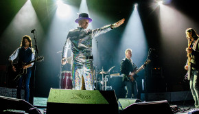 "TORONTO, ON - AUGUST 10:  The Tragically Hip performs on stage during ""Man Machine Poem"" tour at the Air Canada Center on August 10, 2016 in Toronto, Canada.  (Photo by GP Images/WireImage)"