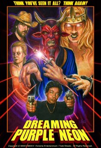 Dreaming Purple Neon Poster