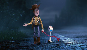 "LEADING THE WAY -- In Disney•Pixar's ""Toy Story 4,"" Bonnie's beloved new craft-project-turned-toy, Forky, declares himself trash and not a toy, so Woody takes it upon himself to show Forky why he should embrace being a toy. Featuring Tom Hanks as the voice of Woody, and Tony Hale as the voice of Forky, ""Toy Story 4"" opens in U.S. theaters on June 21, 2019...©2019 Disney•Pixar. All Rights Reserved."