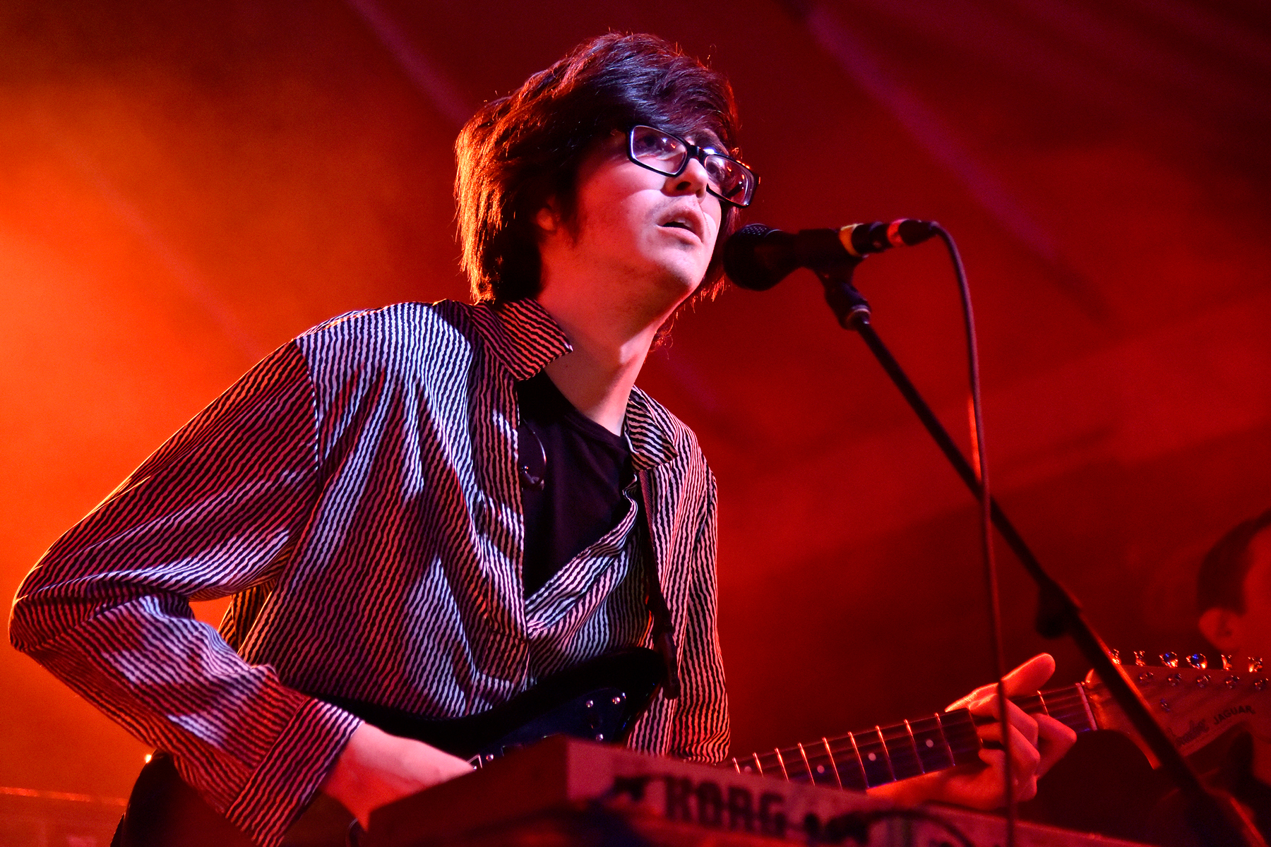 AUSTIN, TEXAS - MARCH 14: Will Toledo of Car Seat Headrest performs at the Ticketmaster showcase during the 2019 SXSW Conference and Festival at Stubbs Bar-B-Que on March 14, 2019 in Austin, Texas. (Photo by Tim Mosenfelder/Getty Images)