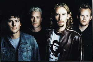 Nickelback. 2002 handout photo courtesy Roadrunner Records.