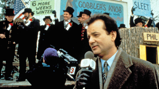 No Merchandising. Editorial Use Only. No Book Cover Usage. Mandatory Credit: Photo by Moviestore/REX/Shutterstock (1591174a) Groundhog Day,  Bill Murray Film and Television
